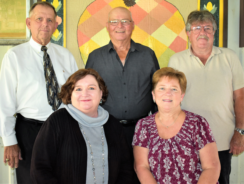 The Needville Harvest Festival Committee is hard at work planning a comeback after COVID-19 sidelined the annual event last October. In front, from left, are board members Sherry Winkelman and Sandra Wendt; back row: President Chris Janicek and board members W. Lee Hedt and Bill Schiffman. Not pictured is LaNette Schultz.